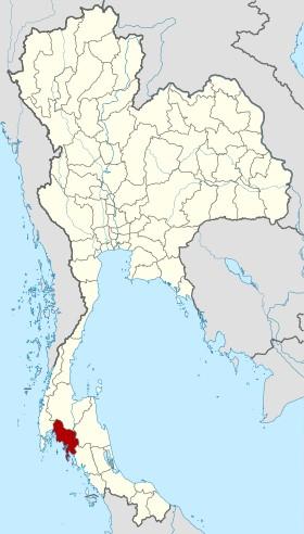 carte province de krabi